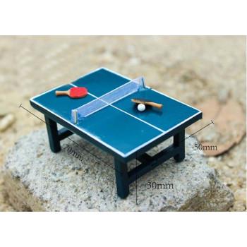 Стол для настольного тенниса для куклы Миниатюра 1:12
