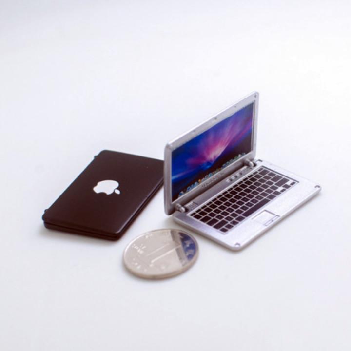 Ноутбук для кукольного дома Миниатюра 1:12