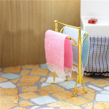 Полотенцесушители с полотенцами кукольная миниатюра 1:12