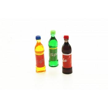 Бутылочки c газировкой для кукол 3 шт.