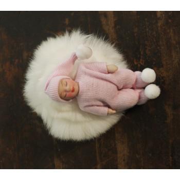 Кукла младенец Миниатюра 1:12