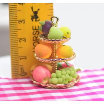 Блюдо для кукол десертное трехуровневое