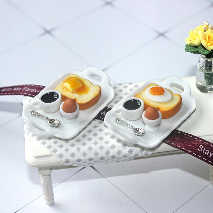Завтрак на подносе для кукол