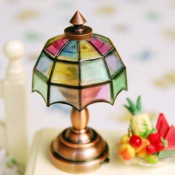 Настольная лампа  Витраж на батарейке для кукол