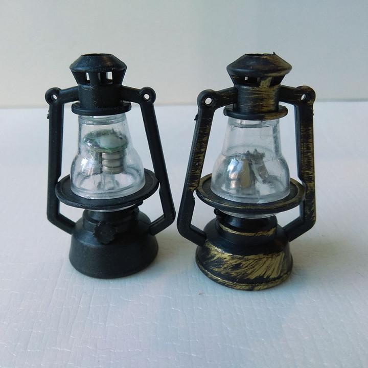 Керосиновая лампа светящаяся