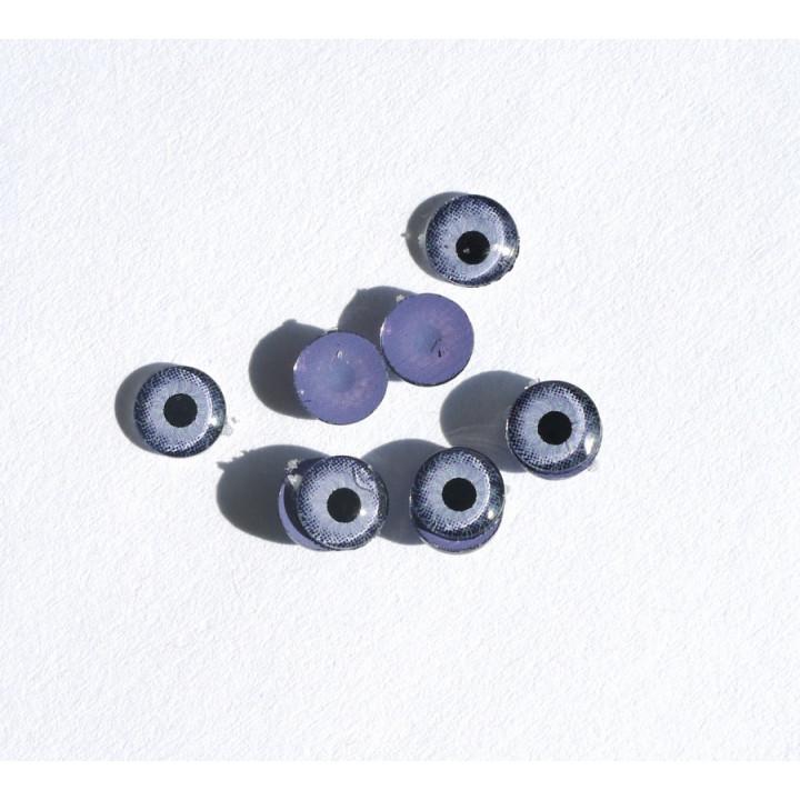 Глазки голубые приклеивающиеся для игрушек 6 мм 2 шт