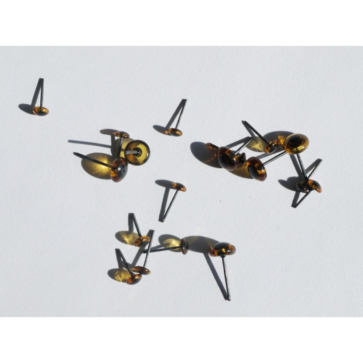 Глазки-гвоздики коричневые стеклянные для игрушек 2шт