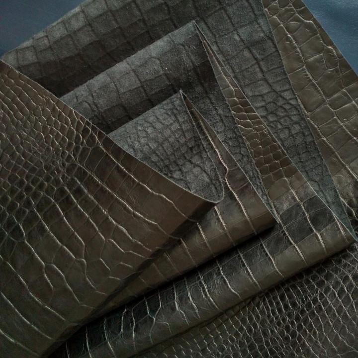 Кожа Крокодил 1,2 мм Черный Турция
