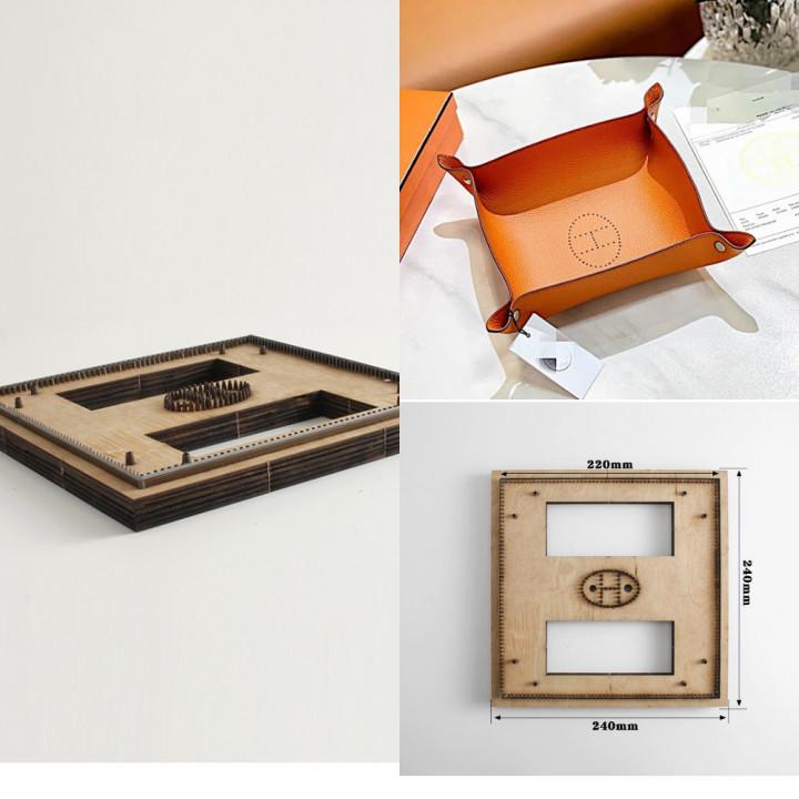Заготовка для ключницы под серебро 4-6 карабинов